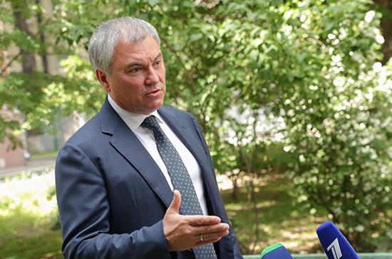 Володин объяснил, почему важно поддержать поправки к Конституции