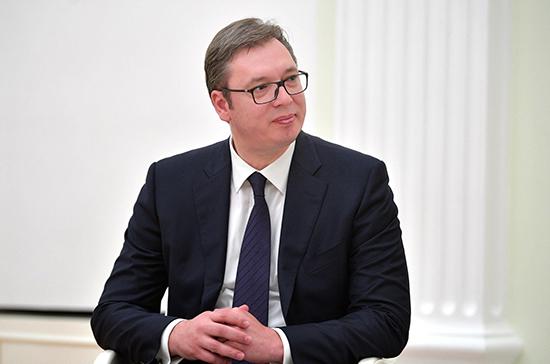 Вучич назвал примерный срок вступления Сербии в ЕС