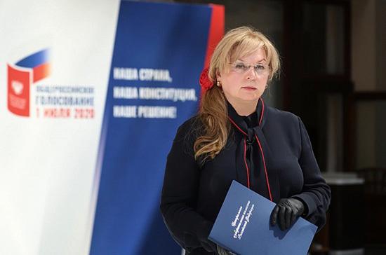 Элла Памфилова проголосовала по поправкам к Конституции