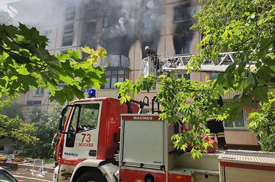 В жилом доме на северо-востоке Москвы произошёл взрыв