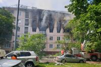 Очевидец рассказал о взрыве в жилом доме на северо-востоке Москвы