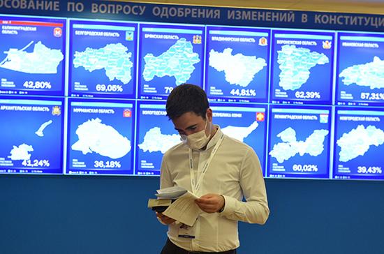 Средняя явка по России на голосовании составила 59,60% на 14:00
