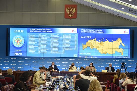 Голосование по поправкам в Конституцию состоялось, считает Памфилова
