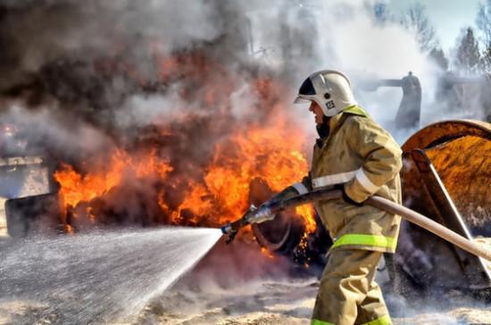 В промзоне в подмосковном Пушкино потушили пожар