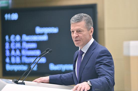 Вопрос вхождения Донбасса в состав России не обсуждался, заявил Козак