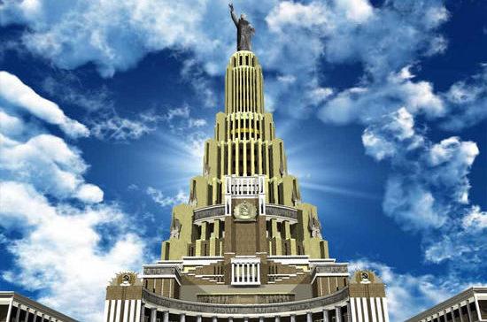 Дворец Советов должен был стать архитектурной доминантой столицы