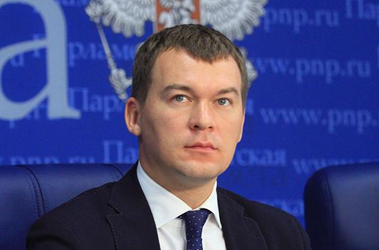 Дегтярев попросил Путина поддержать Хабаровский край