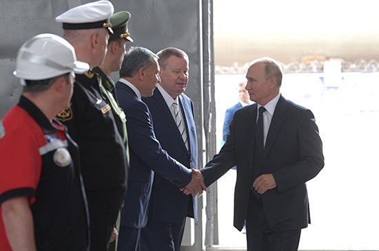 Доля современных кораблей в ВМФ России к 2027 году должна превысить 70%, заявил Путин