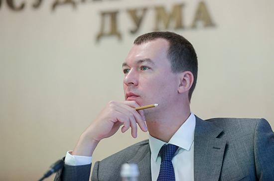 Врио главы Хабаровского края Дегтярев прибыл в регион