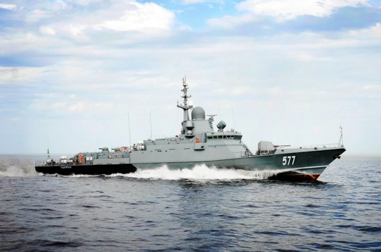Крымские корабелы спустили на воду новый корабль для Черноморского флота