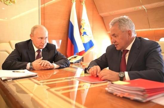 Путин и Шойгу обсудили вопросы госпрограммы вооружения