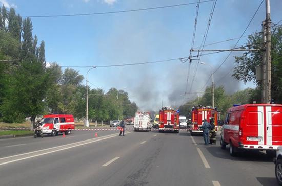 В МЧС сообщили о локализации пожара на автозаправке в Волгограде