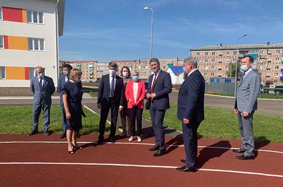 Рима Баталова посетила церемонию открытия нового здания школы-интерната в Башкирии