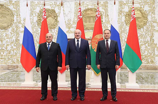 Встреча Лукашенко и Мишустина началась во Дворце независимости в Минске