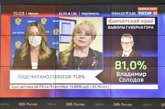 Солодов лидирует на выборах губернатора Камчатки