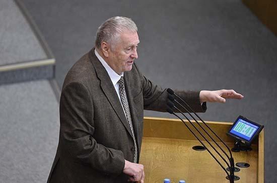 Жириновский предложил усилить в Госдуме меры по борьбе с коронавирусом