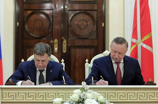 Александр Беглов и Вячеслав Макаров подписали план законопроектной работы на 2020-2021годы
