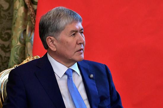В Киргизии задержали бывшего президента Атамбаева