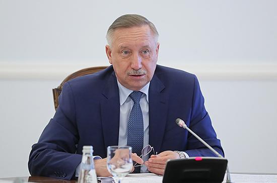 Губернатор Петербурга перешел на дистанционный режим работы