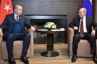Путин выразил соболезнования Эрдогану после землетрясения в Измире