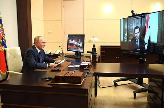 Путин заявил о фактической ликвидации очага терроризма в Сирии