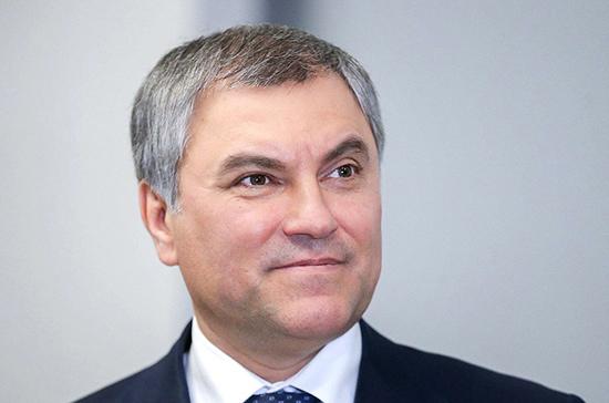 Володин поздравил сотрудников МВД с праздником