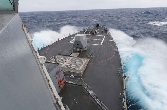 Американский эсминец нарушил границу России