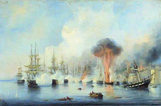 Русская эскадра победила в битве у мыса Синоп 167 лет назад