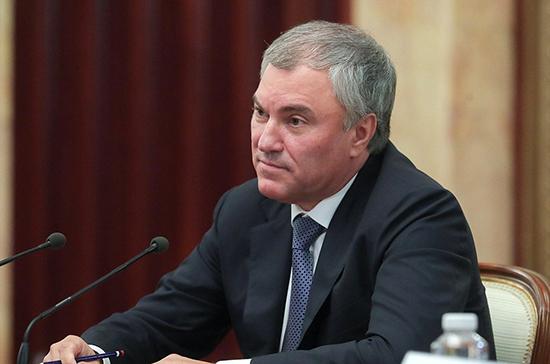В Госдуму будет внесён новый законопроект о защите детей, сообщил Володин