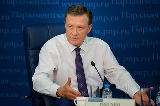 Рябухин прокомментировал возможность возвращения налога на движимое имущество