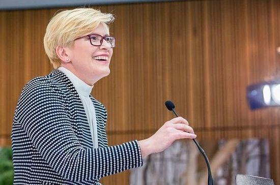 Новый премьер Литвы представила Сейму программу правительства