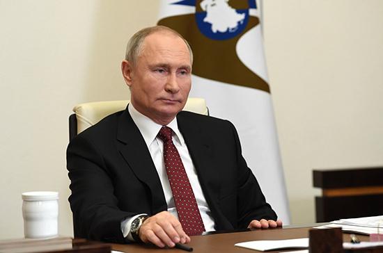Президент России рассказал о помощи ЕАЭС в борьбе с коронавирусом