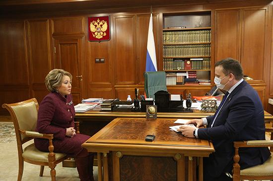 Матвиенко призвала привести все дороги Новгородской области в должное состояние