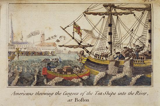 Когда произошло «Бостонское чаепитие»