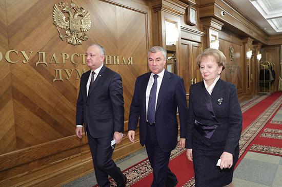 Володин оценил закон о статусе русского языка в Молдавии