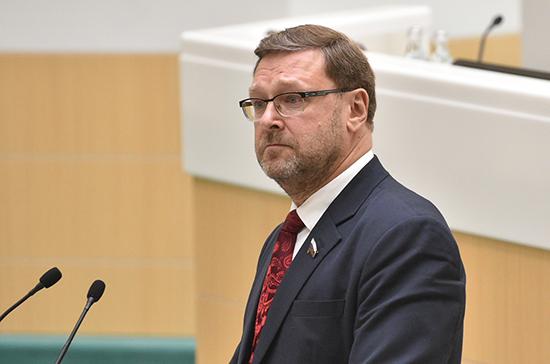 Косачев: Россия сможет следить за военными действиями из космоса