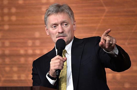Песков заявил о недопустимости насилия против силовиков на незаконных акциях