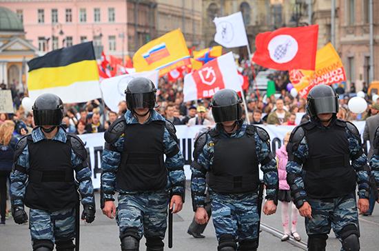 Штрафы за неповиновение полиции на митингах увеличат