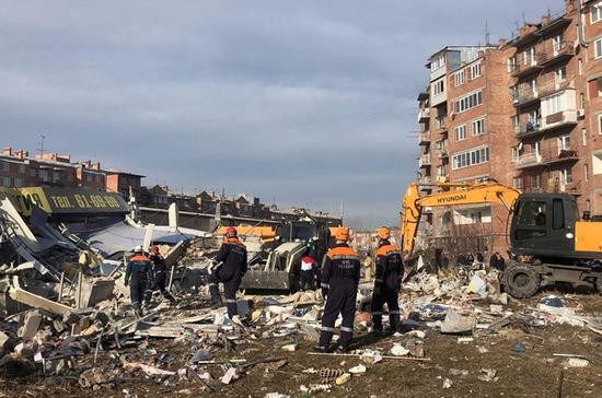 Неполадки газового оборудования могли стать причиной взрыва в магазине во Владикавказе