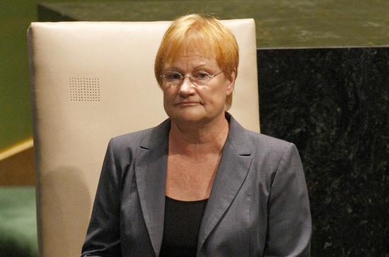 Халонен рассказала, что звонила Матвиенко по просьбе ВОЗ
