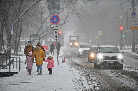 Жителей Москвы предупредили о метели и сильном ветре в воскресенье