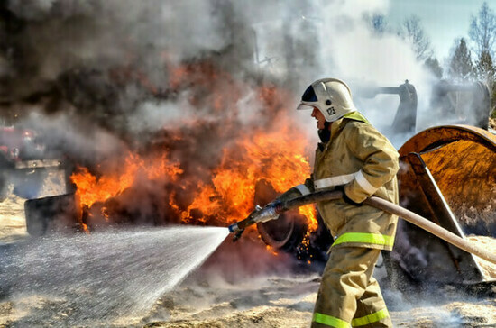 В Измайловском кремле в Москве произошёл пожар