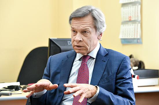 Пушков объяснил истерию НАТО вокруг Калининграда