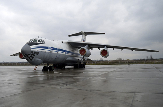 Самолет МЧС России с грузом гуманитарной помощи приземлился в Индии