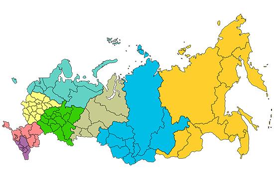 Федеральные округа появились в России 21 год назад