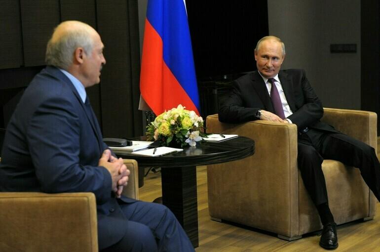 Путин: интеграция России и Белоруссии должна идти не спеша