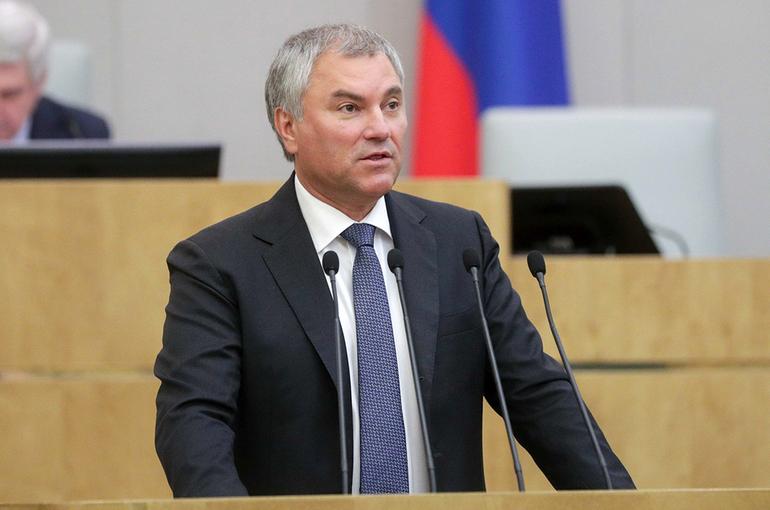 Володин встретится с председателем парламента Сербии