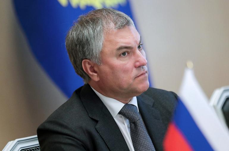 Володин рассказал, что вызывает «истерию» со стороны США
