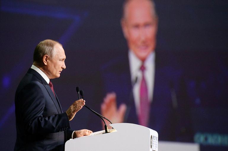 Путин рассказал о главных ценностях в жизни