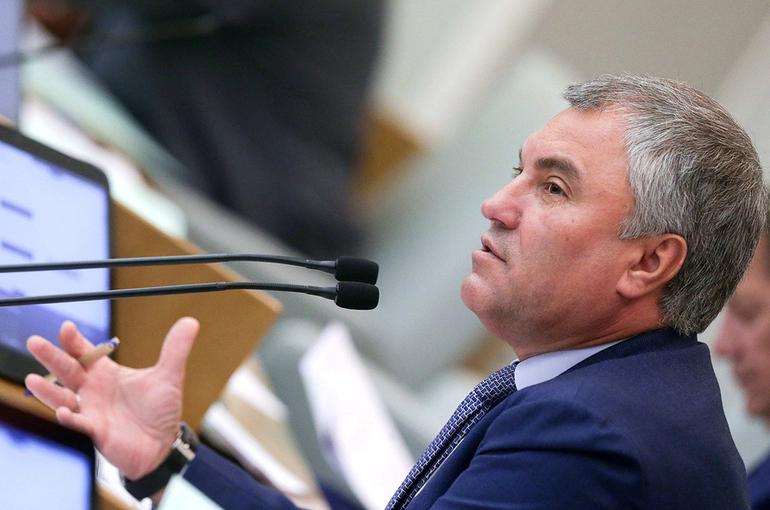 Володин предложил установить парламентский контроль за институтами развития